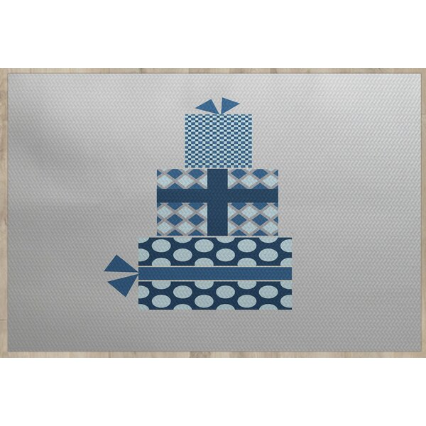 Christmass Gift Gray Indoor/Outdoor Area Rug by The Holiday Aisle