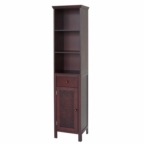 Beaulah 15 W x 65 H Linen Tower by World Menagerie
