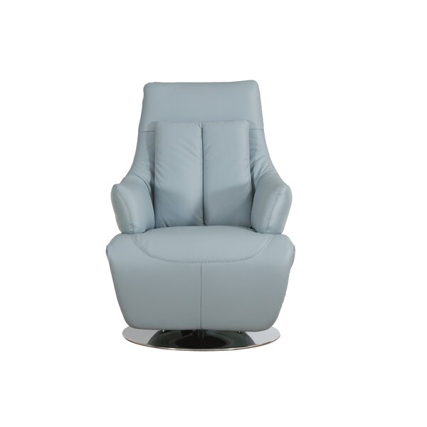 Bernardo Leather Power Recliner by Orren Ellis