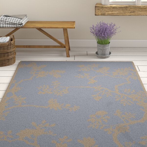 Haller Hand-Tufted Gray Area Rug by Ophelia & Co.