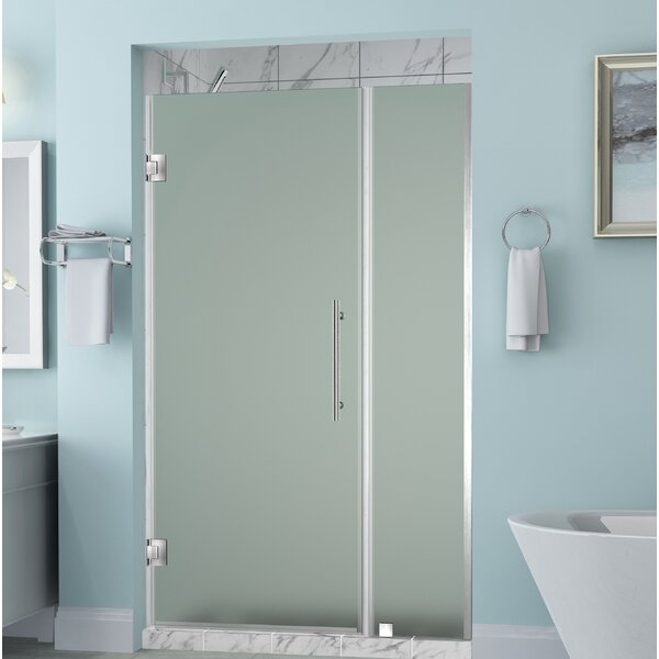Belmore 71 x 72 Hinged Frameless Shower Door by Aston