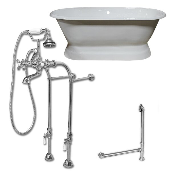 Dual Ended Pedestal 66 x 31 Freestanding Soaking Bathtub by Cambridge Plumbing