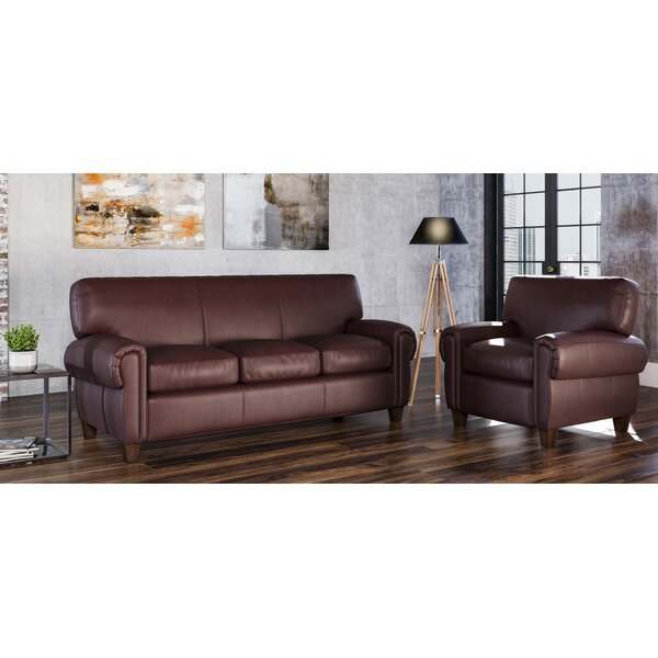 Bailey 2 Piece Leather Living Room Set by Westland and Birch