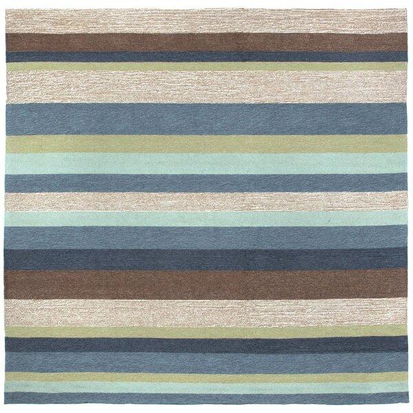 Derby Stripe Denim Indoor/Outdoor Rug by Ebern Designs