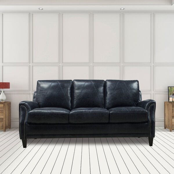 Exellent Quality Anya Leather Sofa by Williston Forge by Williston Forge