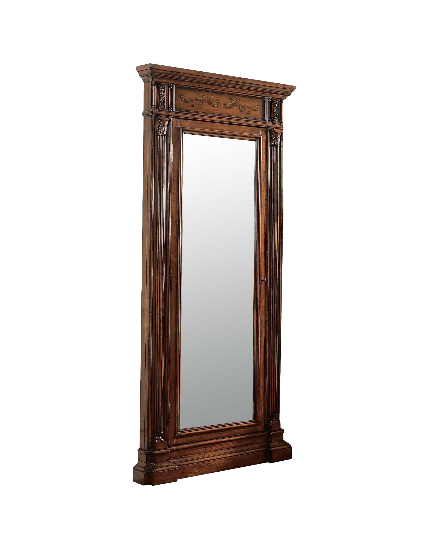 the armoire white mirror living belham swivel jewelry cabinet standing free cheval