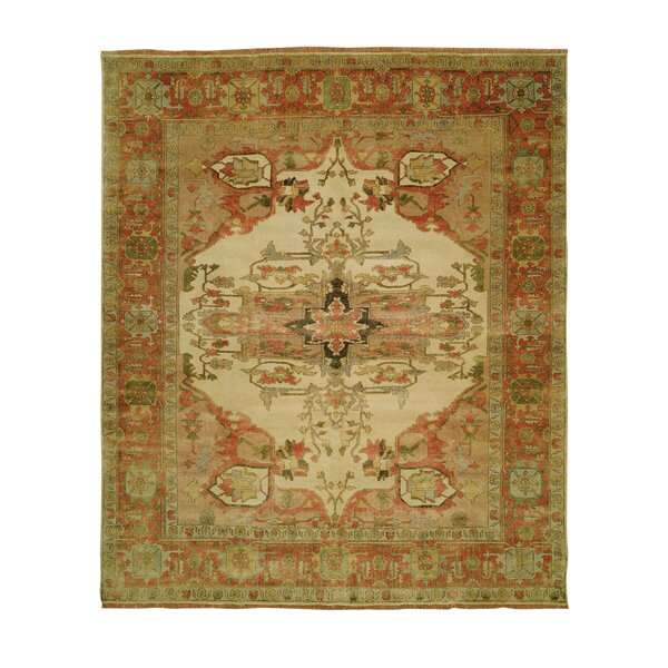 Jules Serapi Gold/Ivory Area Rug by Shalom Brothers
