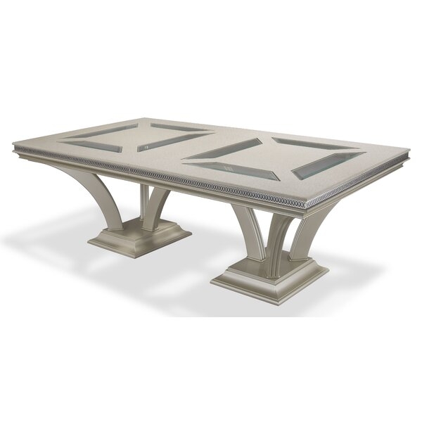 Hollywood Swank Extendable Dining Table by Michael Amini Michael Amini
