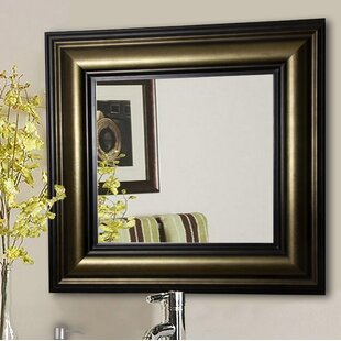 Reviews Kimzey Stepped Antiqued Wall Mirror ByCharlton Home