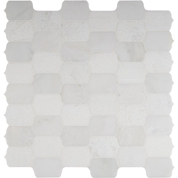 Calypso Blanco Marble Mosaic Tile in White by MSI