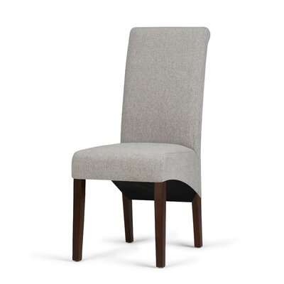 Agnon Deluxe Upholstered Dining Chair Color: Cloud gray by Alcott Hill