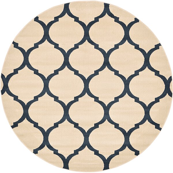 Moore Beige/Navy Area Rug by Charlton Home