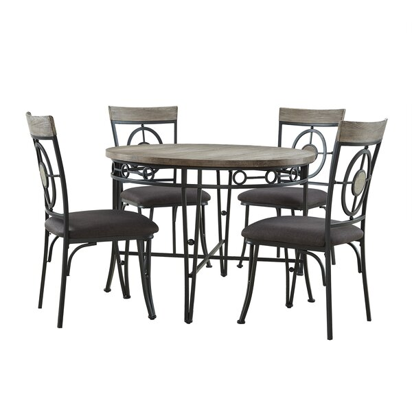 Benedetto 5 Piece Dining Set by World Menagerie World Menagerie