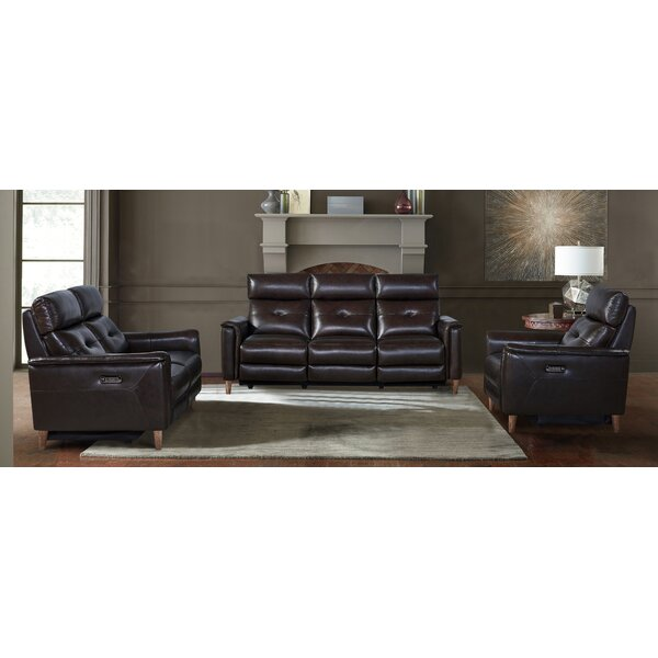Gala Leather Reclining Configurable Living Room Set by Red Barrel Studio