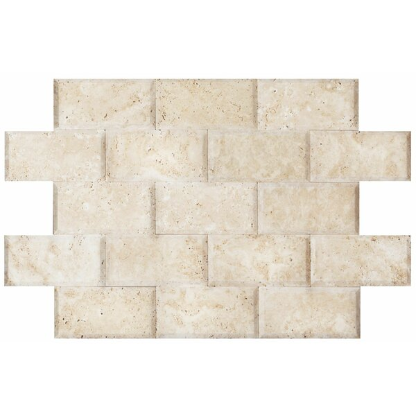 3 x 6 Travertine Mosaic Tile in Ivory by Ephesus Stones
