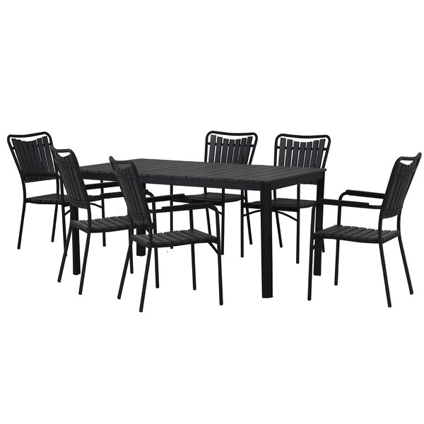 Darrius 7 Piece Dining Set By Highland Dunes