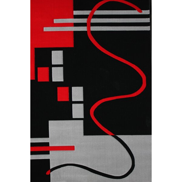 Haislip Black Area Rug by Orren Ellis