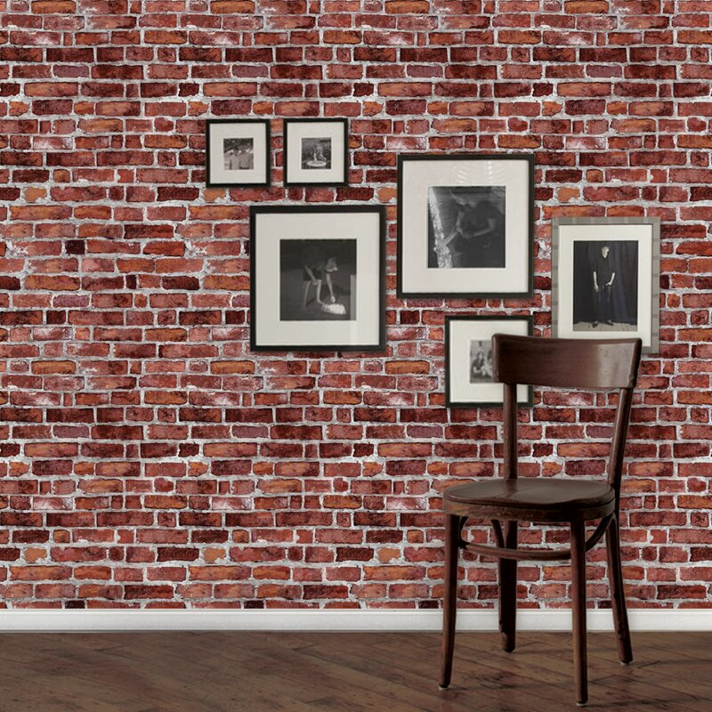 SimpleShapes Peel and Stick 9 x 24 Brick Tile Wallpaper