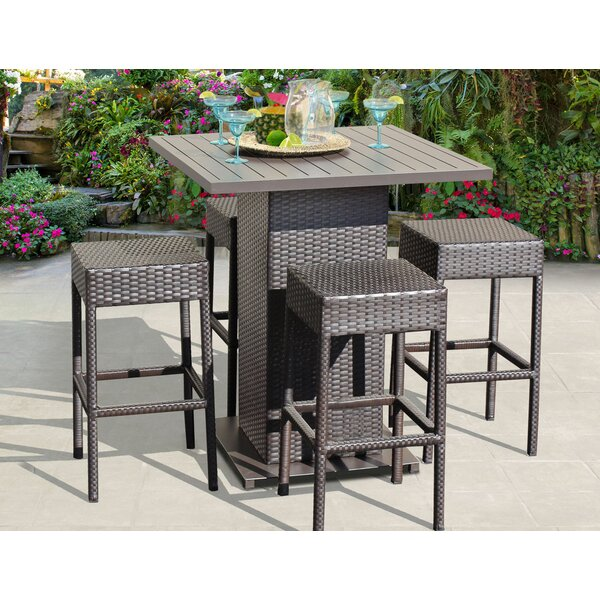 Napa 5 Piece Bar Height Dining Set by TK Classics