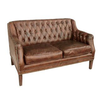 Allyssa Leather Settee by Mistana SKU:ED829215 Buy