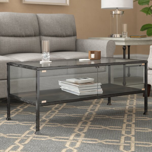 Aldridge Terrarium Coffee Table by Three Posts