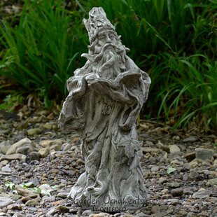 Large Stone Garden Ornaments Large stone garden ornaments wayfair wizard stone garden statue workwithnaturefo
