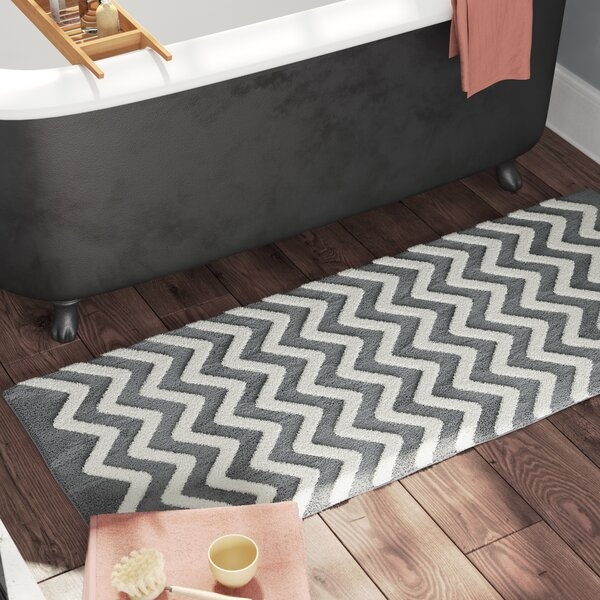 Doyle Chevron Cotton Bath Mat by The Twillery Co.
