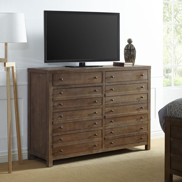 Alaine 8 Drawer Double Dresser with Mirror by Brayden Studio