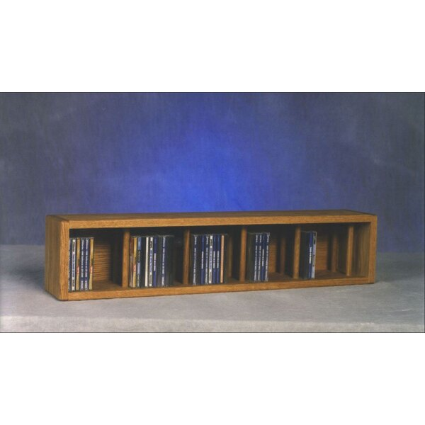 100 Series 67 CD Multimedia Tabletop Storage Rack by Wood Shed