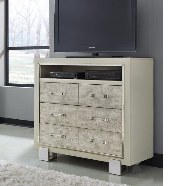 Review Linneus 6 Drawer Media Chest