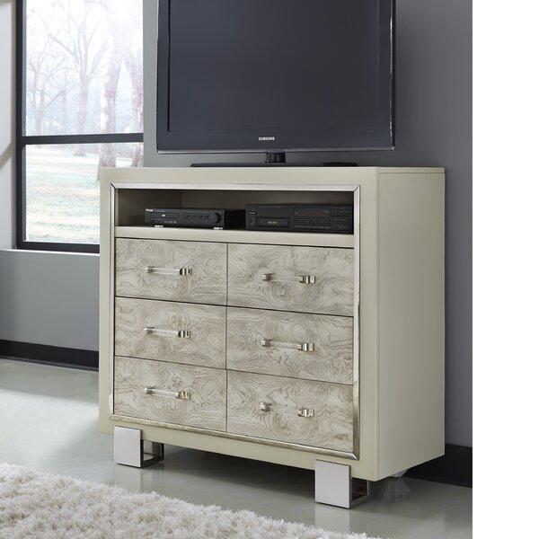 Patio Furniture Linneus 6 Drawer Media Chest