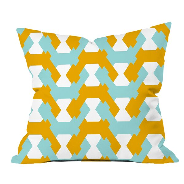 Hexagon Twists Geometric Throw Pillow by Positively Home