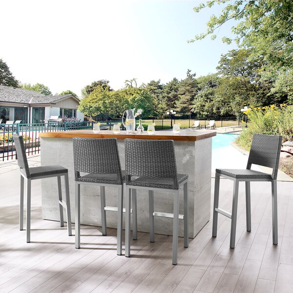 Maximo 30-inch Patio Bar Stool (Set Of 4) By Orren Ellis
