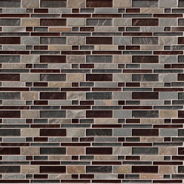 Urbano Blend Interlocking Pattern Random Sized Glass Tile in Brown by MSI