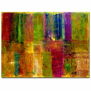 'Color Abstract' by Michelle Calkins Painting Print on Canvas by Trademark Fine Art