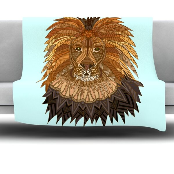 Lion by Art Love Passion Fleece Throw Blanket by East Urban Home