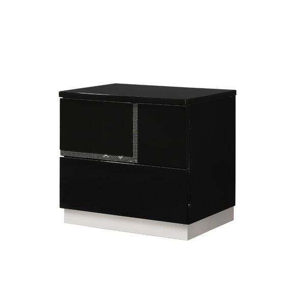 Dalia Left Side 2 Drawer Nightstand by Orren Ellis Orren Ellis