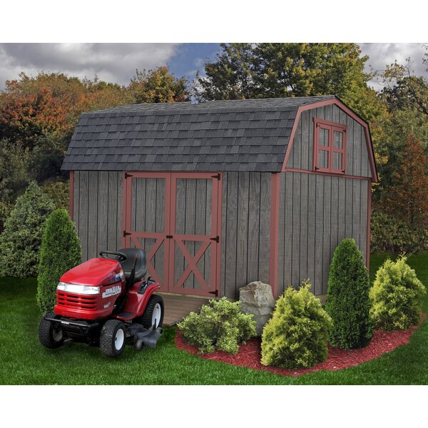 Meadowbrook 10 ft. W x 12 ft. D Solid Wood Storage Shed by Best Barns