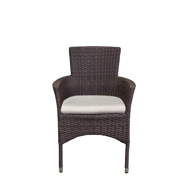 Penn Stacking Patio Dining Chair with Cushion by Latitude Run