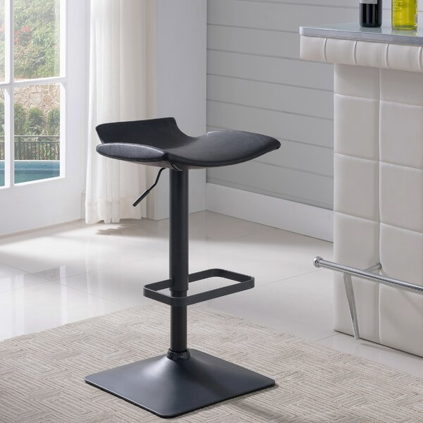 Elosie Adjustable Height Swivel Bar Stool (Set of 2) by Orren Ellis