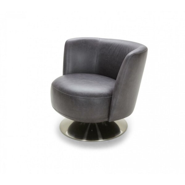 Clarine Leatherette Upholstered Barrel Chair by Orren Ellis