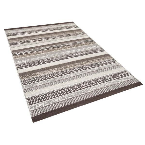 Polatli Handwoven Wool Brown Area Rug by Home Loft Concepts