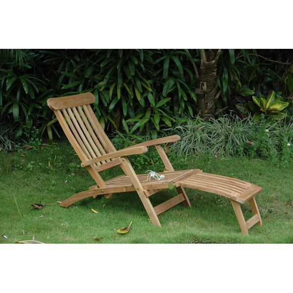Royal Reclining Teak Chaise Lounge by Anderson Teak