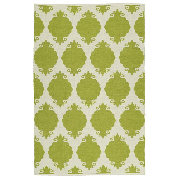 Dominic Cream/Wasabi Indoor/Outdoor Area Rug by Ebern Designs