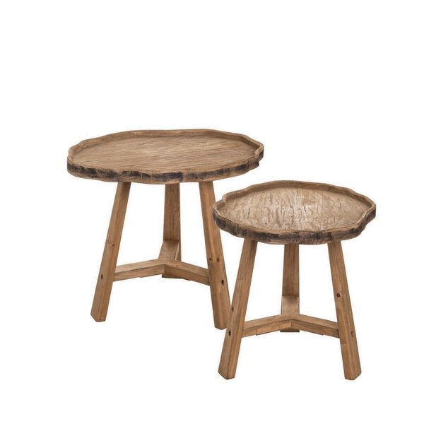 Marnisha 2 Piece Nesting Tables by Union Rustic