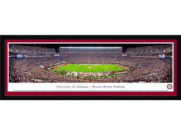 NCAA Alabama, University of - 50 Yd (Night) by James Blakeway Framed Photographic Print by Blakeway Worldwide Panoramas, Inc