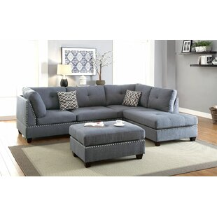 charlemont reversible sectional with ottoman - Sectional With Chaise