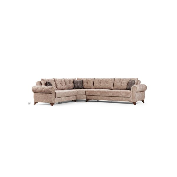 Ilford Left Hand Facing Sleeper Sectional by Alcott Hill