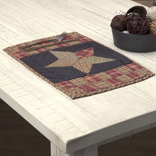 Crosby Classic Tabletop and Kitchen Patchwork Star Quilted 18 Placemat (Set of 6) by August Grove