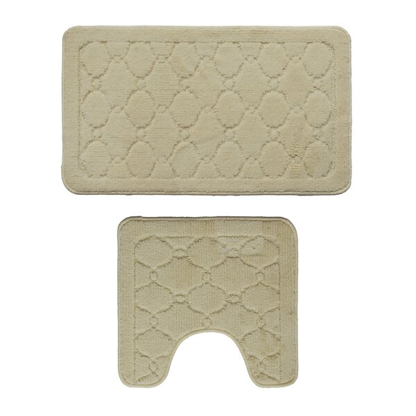 2 Piece Bath Rug Set by Attraction Design Home